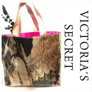 VICTORIA SECRET SUPERMODEL GOLD TOTE BAG